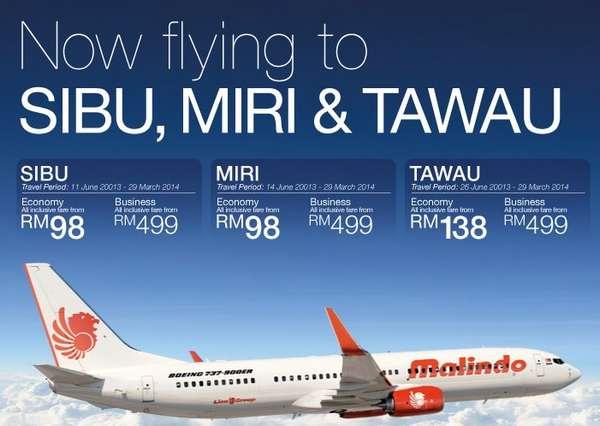 Malindo Air Promotion to Sibu, Miri, Tawau