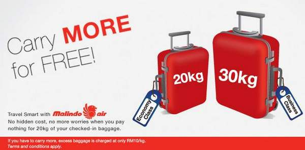 Malindo Air Increases Luggage Allowance