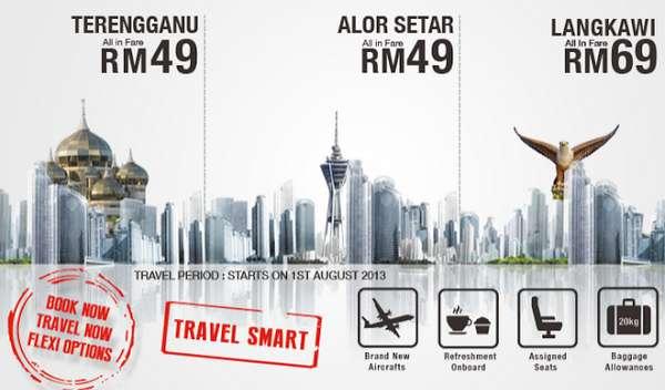 Malindo Air Promotion to Alor Setar, Langkawi & Kuala Terengganu