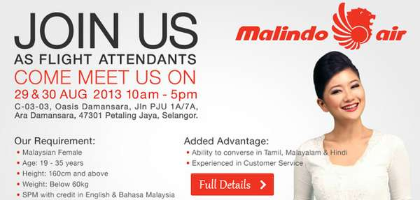 Malindo Air Job Vacancy