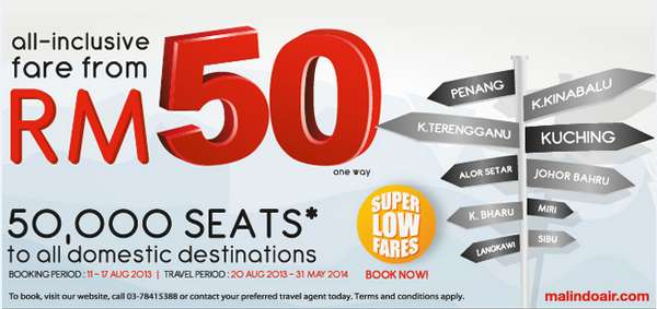 Malindo Air RM50 Promotion