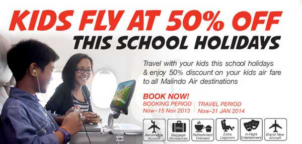 Malindo Air Kids Half Price Promotion