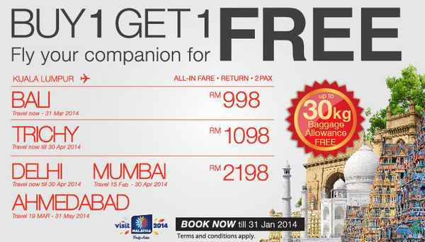 Malindo Air Buy 1 Free 1 Promotion