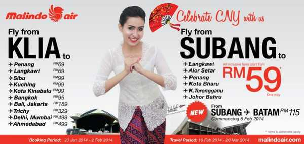 Malindo Air CNY Promotion 2014