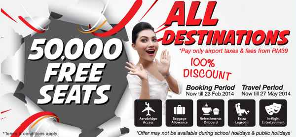 Malindo Air Free Seats Promotion