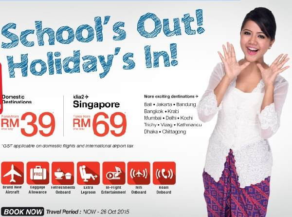 Malindo Air School S Out Promotion Malindo Air Promotion