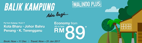 Malindo Air Balik Kampung Promotion